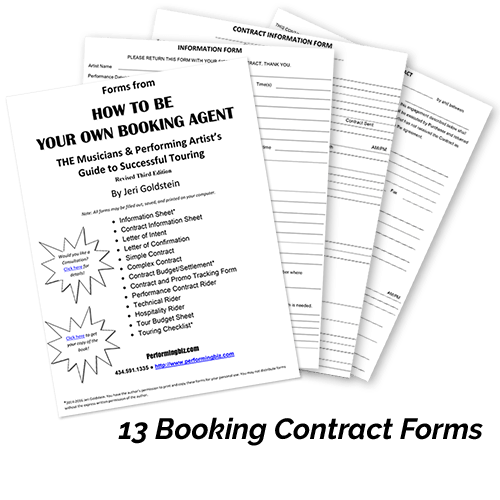 Booking Contract Forms